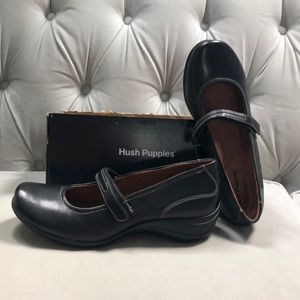 Hush puppies epic Mary Jane black leather